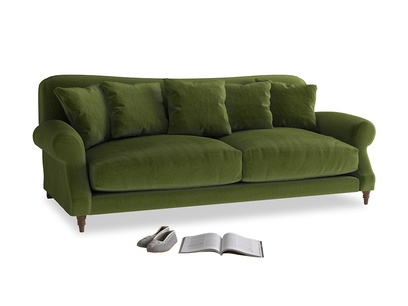 Large Crumpet Sofa in Good green Clever Deep Velvet