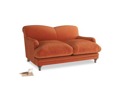 Small Pudding Sofa in Old Orange Clever Deep Velvet