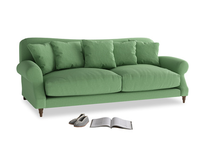 Large Crumpet Sofa in Clean green Brushed Cotton