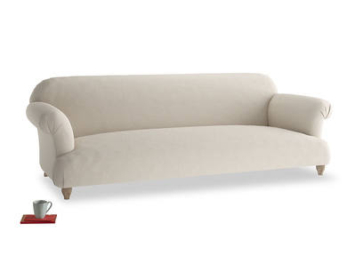Extra large Soufflé Sofa in Buff brushed cotton