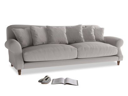 Extra large Crumpet Sofa in Mouse grey Clever Deep Velvet