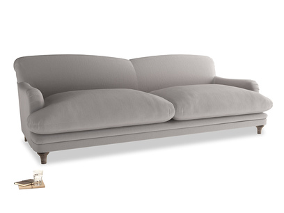 Extra large Pudding Sofa in Mouse grey Clever Deep Velvet