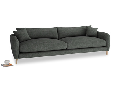 Extra large Squishmeister Sofa in Pencil Grey Clever Laundered Linen
