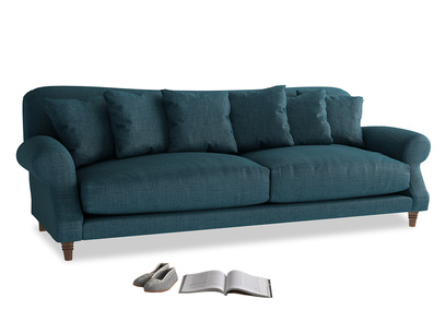 Extra large Crumpet Sofa in Harbour Blue Vintage Linen