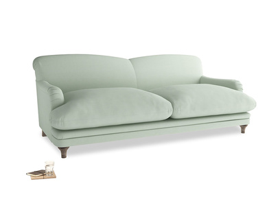 Large Pudding Sofa in Soft Green Clever Softie