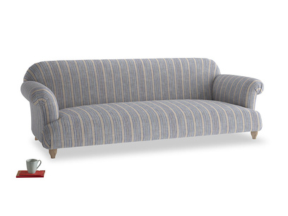 Extra large Soufflé Sofa in Brittany Blue french stripe