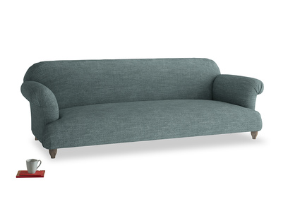 Extra large Soufflé Sofa in Anchor Grey Clever Laundered Linen