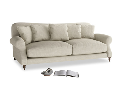 Large Crumpet Sofa in Shell Clever Laundered Linen