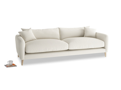 Large Squishmeister Sofa in Chalky White Clever Softie