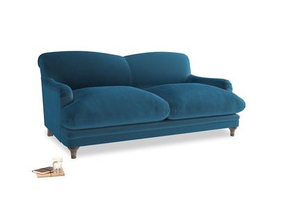 Medium Pudding Sofa in Twilight blue Clever Deep Velvet