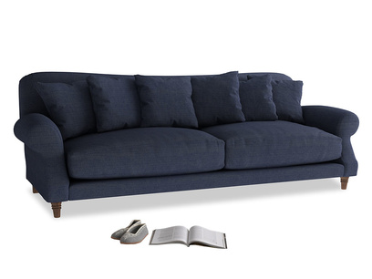 Extra large Crumpet Sofa in Seriously Blue Clever Softie