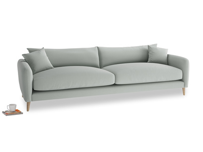 Extra large Squishmeister Sofa in Eggshell grey clever cotton