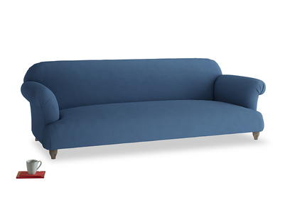 Extra large Soufflé Sofa in True blue Clever Linen