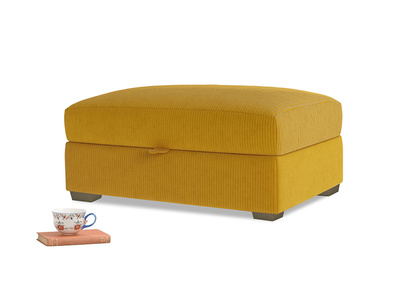 Bumper Storage Footstool in Saffron Yellow Clever Cord