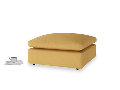 Cuddlemuffin Footstool in Dorset Yellow Clever Linen