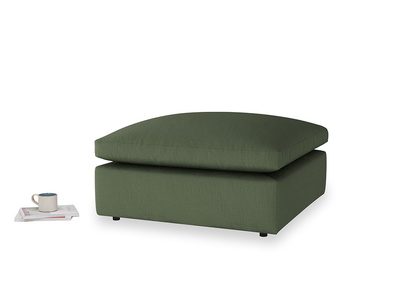 Cuddlemuffin Footstool in Forest Green Clever Linen