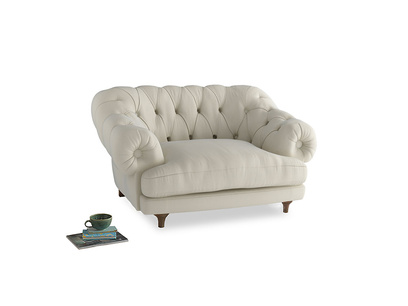 Bagsie Love Seat in Alabaster Bamboo Softie