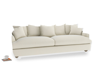 Extra large Smooch Sofa in Alabaster Bamboo Softie