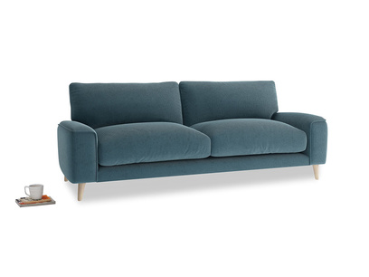Medium Strudel Sofa in Lovely Blue Clever Cord