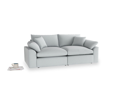 Medium Cuddlemuffin Modular sofa in Gull Grey Bamboo Softie