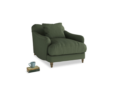 Achilles Armchair in Forest Green Clever Linen