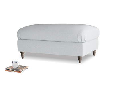 Rectangle Flatster Footstool in Gull Grey Bamboo Softie