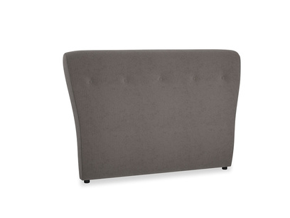 Double Smoke Headboard in Everyday Grey Clever Cord