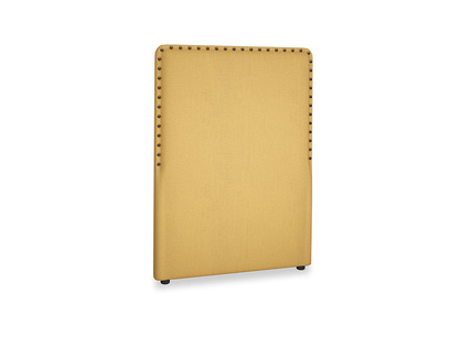 Single Smith Headboard in Dorset Yellow Clever Linen