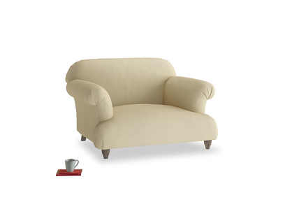 Soufflé Love seat in Parchment Clever Linen