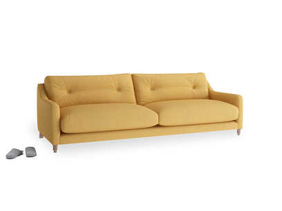 Large Slim Jim Sofa in Dorset Yellow Clever Linen
