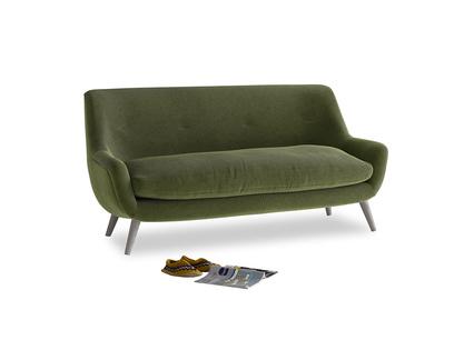 Medium Berlin Sofa in Leafy Green Clever Cord
