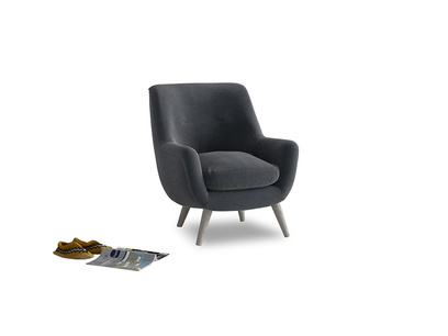 Berlin Armchair in Scandi grey Clever Cord