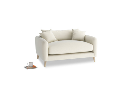 Squishmeister Love Seat in Alabaster Bamboo Softie