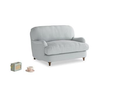Jonesy Love seat in Gull Grey Bamboo Softie