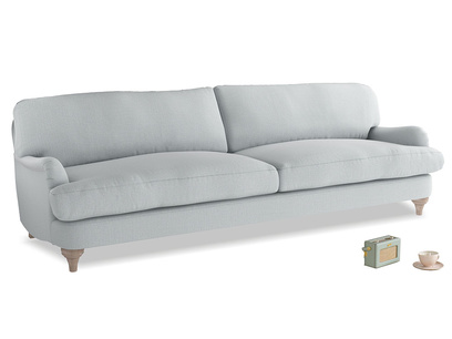 Extra large Jonesy Sofa in Gull Grey Bamboo Softie