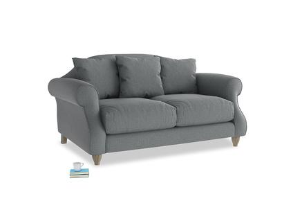 Small Sloucher Sofa in Cornish Grey Bamboo Softie