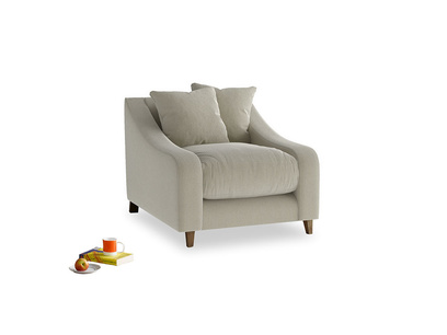 Oscar Armchair in Blighty Grey Clever Cord