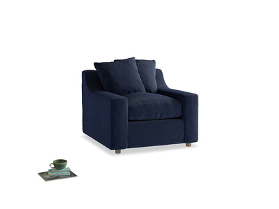 Cloud Armchair in Indian Blue Clever Cord