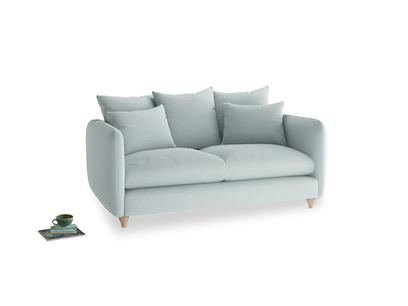Medium Podge Sofa in Duck Egg vintage linen