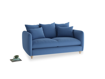 Medium Podge Sofa in English blue Brushed Cotton