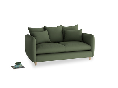 Medium Podge Sofa in Forest Green Clever Linen