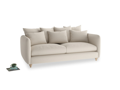 Large Podge Sofa in Buff brushed cotton
