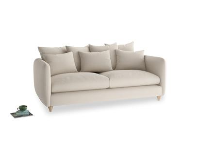 Large Podge Sofa in Buff brushed cotton