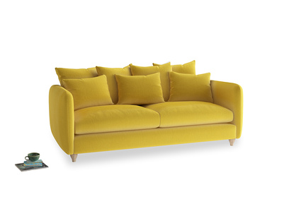 Large Podge Sofa in Bumblebee clever velvet