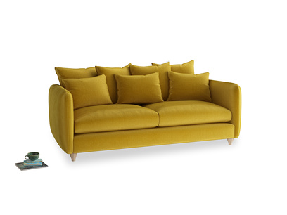 Large Podge Sofa in Burnt yellow vintage velvet