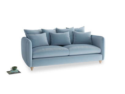 Large Podge Sofa in Chalky blue vintage velvet