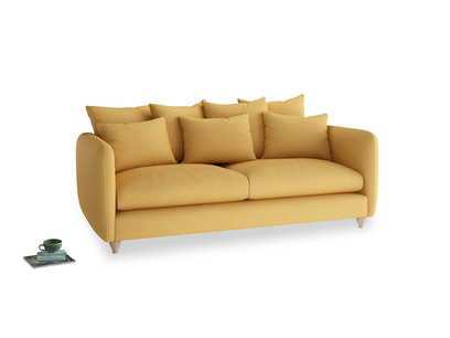 Large Podge Sofa in Dorset Yellow Clever Linen