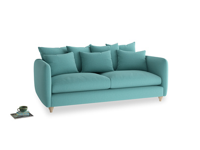 Large Podge Sofa in Peacock brushed cotton