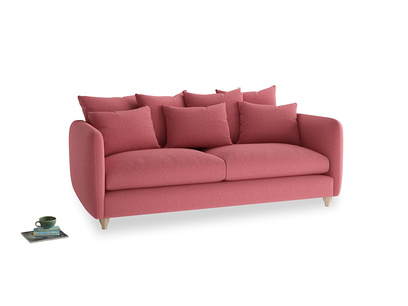 Large Podge Sofa in Raspberry brushed cotton