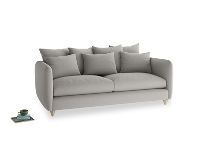 Large Podge Sofa in Wolf brushed cotton